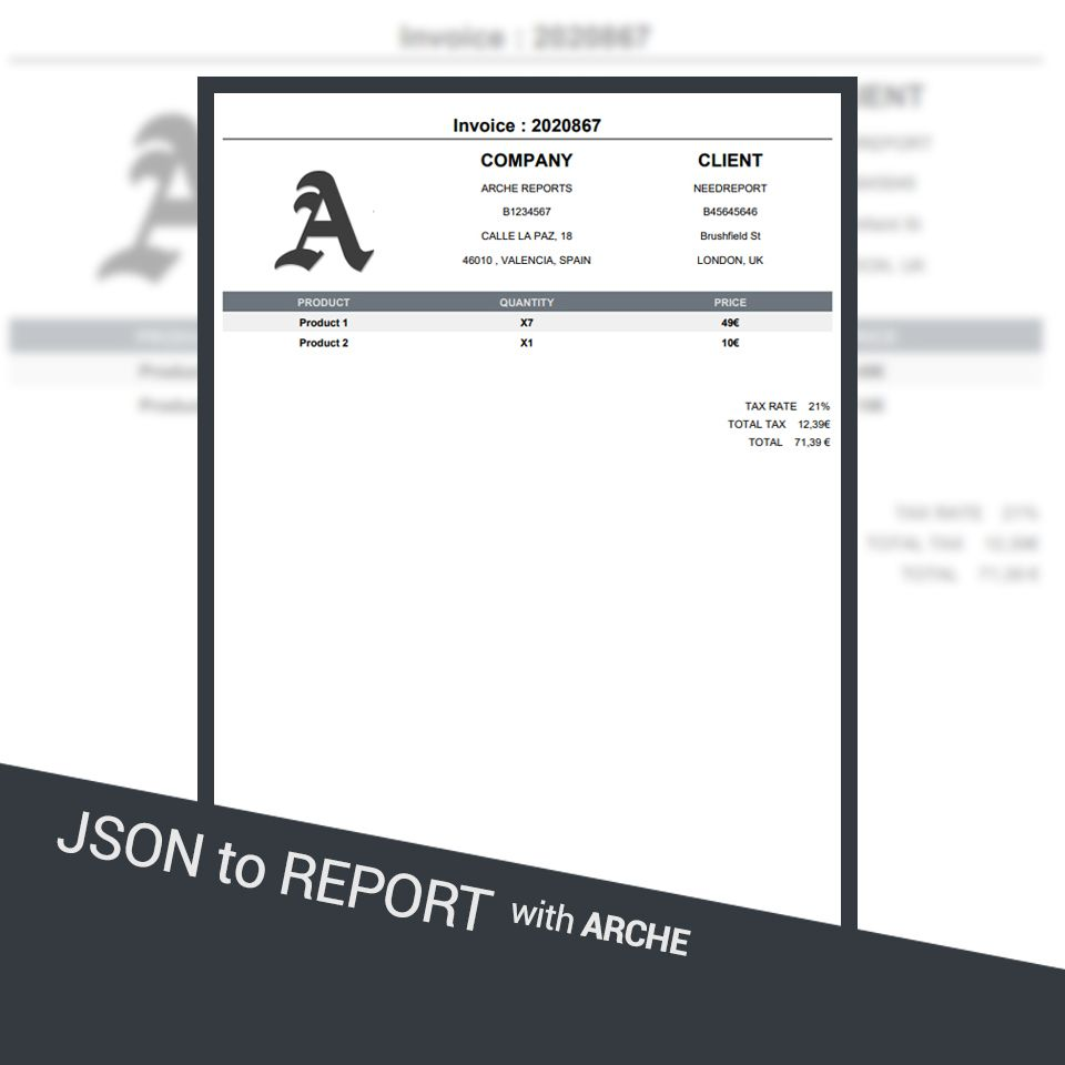 JSON to Report with Arche